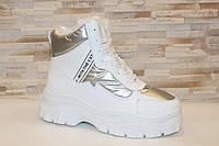 Ботинки женские белые зимние С789, фото 1