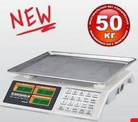 Торговые весы с металлической клавиатурой до 50 кг Grunhelm