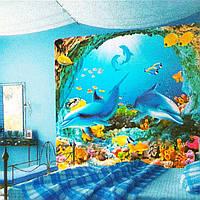 Фотообои, Дельфины размер 196смХ210м, 12 листов