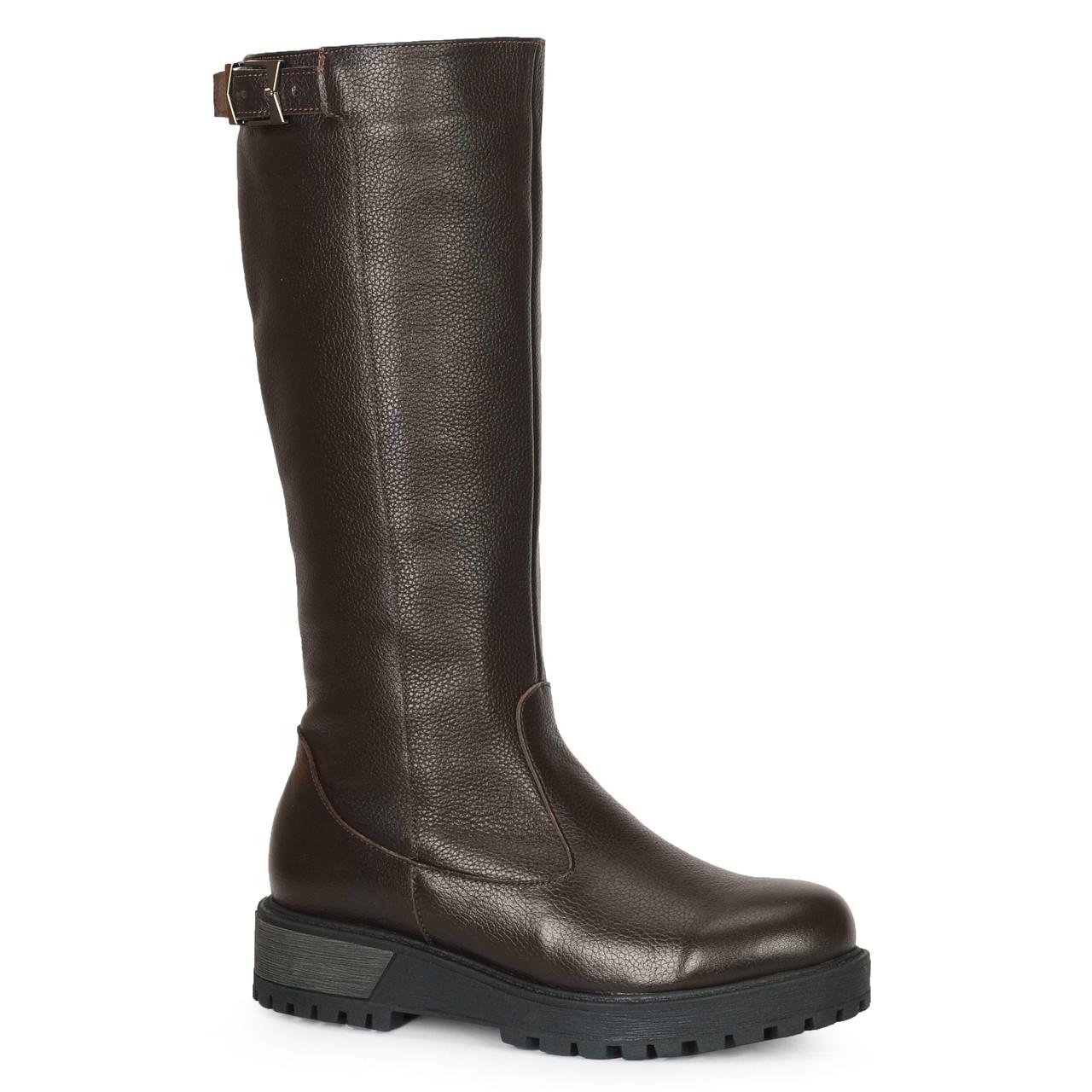Жіночі замшеві черевики шкіряні напівчеревики напівчоботи чоботи TIFFANY на підборах платформі Хутро зима ПШ байка