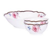 Набор из 3 фарфоровых салатников Камелия 935-019