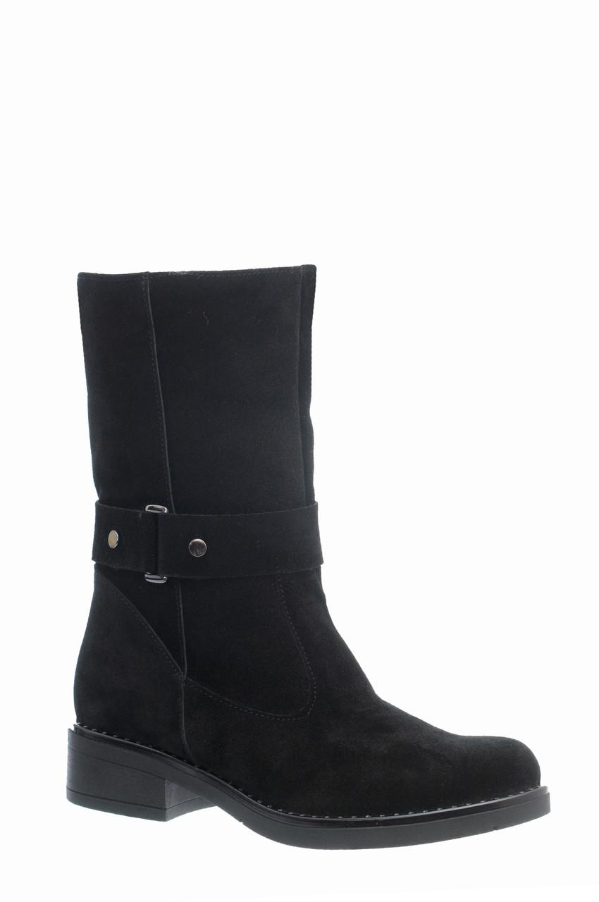 Женские кожаные замшевые ботинки полуботинки полусапоги сапоги TIFFANY на каблуке платформе Мех зима ПШ байка