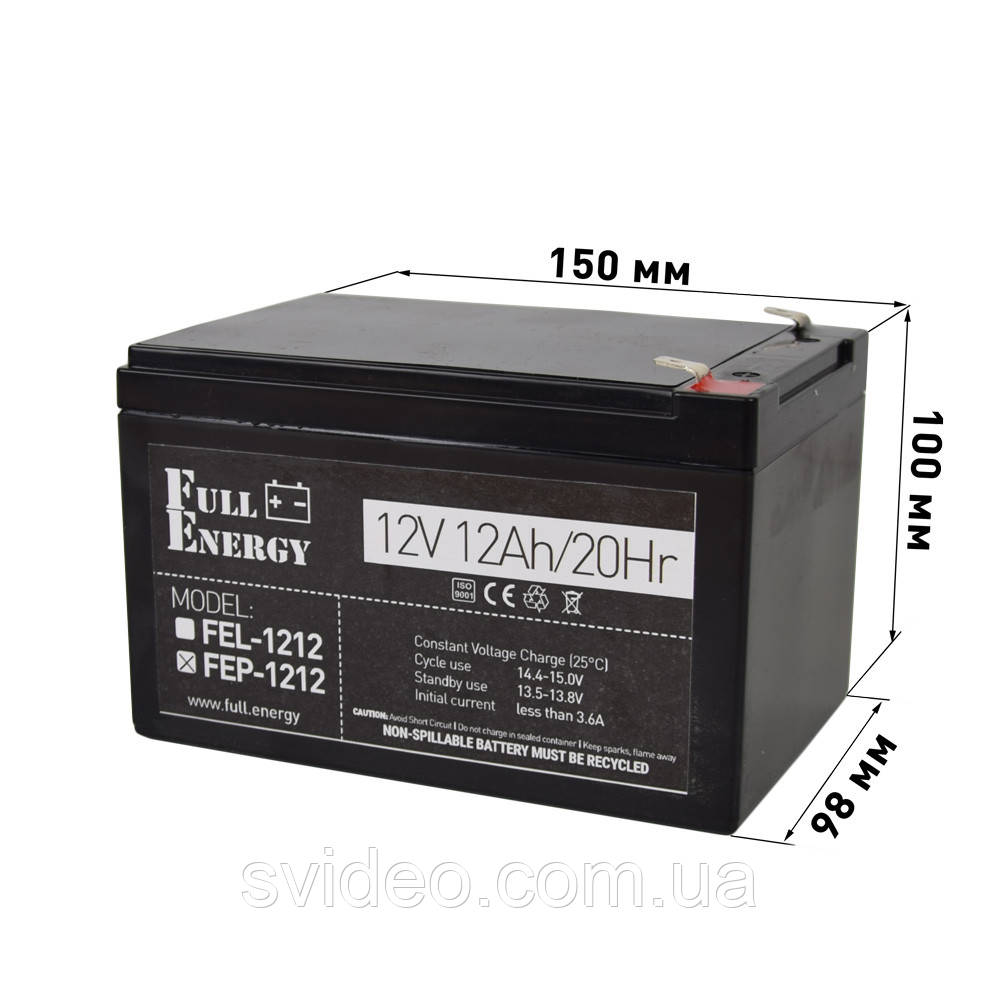 Аккумулятор для ИБП Full Energy FEP-1212,Свинцово-кислотный, 12В 12Ач ,технологии AGM