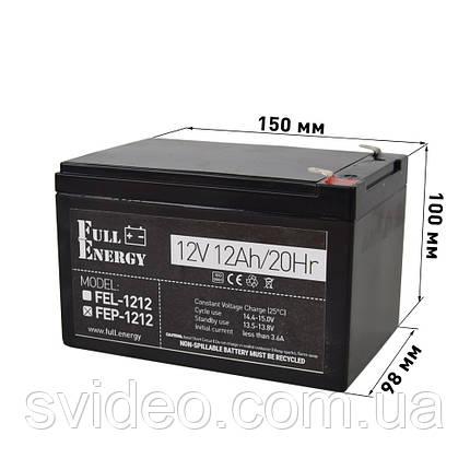 Аккумулятор для ИБП Full Energy FEP-1212,Свинцово-кислотный, 12В 12Ач ,технологии AGM, фото 2