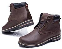 Мужские зимние кожанные ботинки  Wrangler коричневые, фото 1