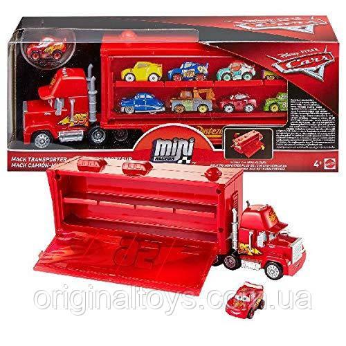 Машинка транспортёр Мак Тачки Дисней и мини-машинка Молния Маквин Cars Mattel FLG70