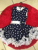 Нарядное платье для девочки Горох 128-140 рост