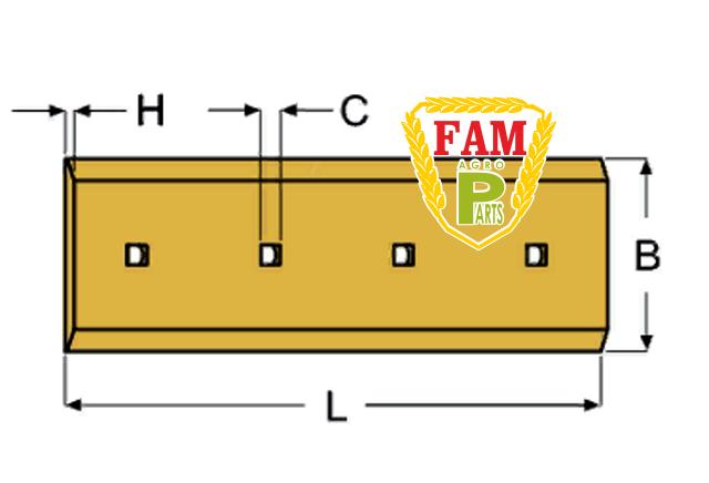 Нож ковша (режущая кромка) 454х203х19 мм Caterpillar 8E7079
