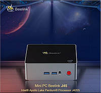 Beelink J45 - мощный mini PC c активным охлаждением, Intel Pentium J4205, 8/256GB, Windows 10, Cooling fan