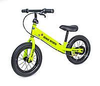 Велобег Scale Sport. Салатовый цвет. Дисковый тормоз!
