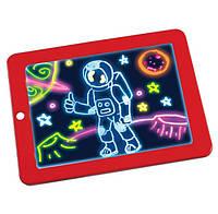 """Набір для творчості SUNROZ 3D Magic Pad планшет для малювання """"Малюємо світлом"""" Червоний (SUN5574)"""