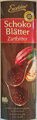 Шоколадные чипсы Excelsior Schoko Blatter 125 g, фото 2