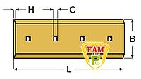 Нож ковша (режущая кромка) 1743х152(165)х16 мм Caterpillar 1359395 PB
