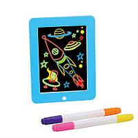"""Набір для творчості SUNROZ 3D Magic Pad планшет для малювання """"Малюємо світлом"""" Блакитний (SUN5575)"""