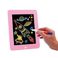 """Набір для творчості SUNROZ 3D Magic Pad планшет для малювання """"Малюємо світлом"""" Рожевий (SUN5576)"""