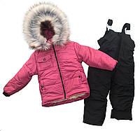 Комбинезон зимний для девочки на 3-4 года