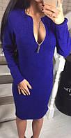Платье яркое приталенное (цвет - бордо, ткань - электрик) Размер S, M, L (розница и опт)