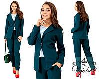 Женский костюм двойка (пиджак + брюки) креп - костюмка диагональ