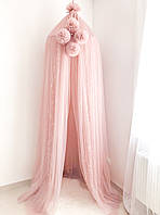 Балдахин-шатер Twins powder pink