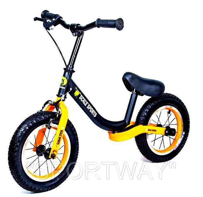 Велобег Scale Sports. Черно-оранжевый цвет. Ручной тормоз!