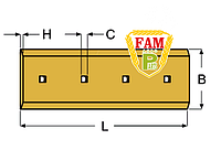 Нож ковша (режущая кромка) 460х203х25 мм Caterpillar 8E9378