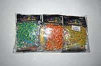 Резиночки для плетения Rainbow Loom 200шт. (разноцветные полосатые), фото 1