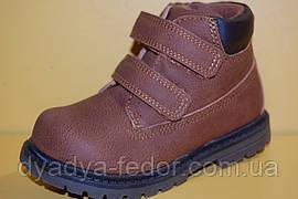Детские демисезонные ботинки Apawwa Польша h61 Для мальчиков коричневый размеры 21_26