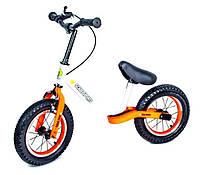 Велобег Scale Sports. Бело-оранжевый цвет. Ручной тормоз!