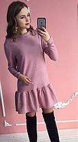 Платье-рюша (цвет - розовый, ткань - ангора) Размер S, M, L (розница и опт)