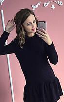 Черное платье-рюша (цвет - черный, ткань - ангора) Размер S, M, L (розница и опт)