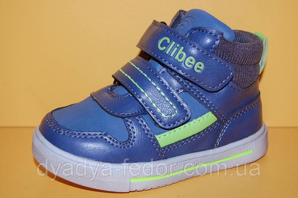 Детские демисезонные ботинки Clibee Польша p261 Для мальчиков Синие размеры 21_26