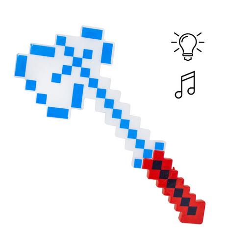 Игрушечное оружие для мальчиков.Топор Майнкрафт с световыми и звуковыми эффектами.