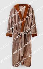 Мужской махровый халат с капюшоном р.46-62.Много размеров и цветов., фото 3