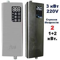 Котел электрический ARTI ES, 3 кВт 220В с нерж. стали и защитой от работы без воды