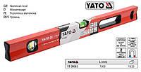 уровень алюминий YATO рівень магнит 2 вічка l=100 cм YT-30063