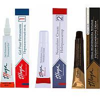 Набор составов Thuya для долговременной укладки бровей (ламинирования бровей и ресниц)
