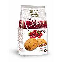 Печенье с начинкой из красных ягод Piselli 250г