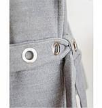 Пальто прямого кроя кашемировое №135Б-Серый, фото 3