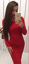 Красное платье (цвет - крансый, ткань - ангора) Размер S, M, L (розница и опт)