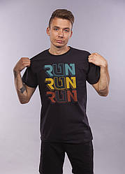 Футболка чёрная LOYS Run Run Run L
