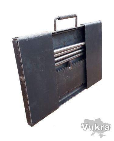 Мангал туриста разборной, чемоданчик тол. 3 мм на 8 шампуров Харьков