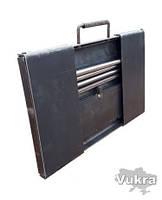 Мангал туриста разборной, чемоданчик тол. 3 мм на 8 шампуров Харьков, фото 1