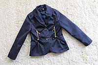Пиджак для девочки школьный Молнии Размер 122 см