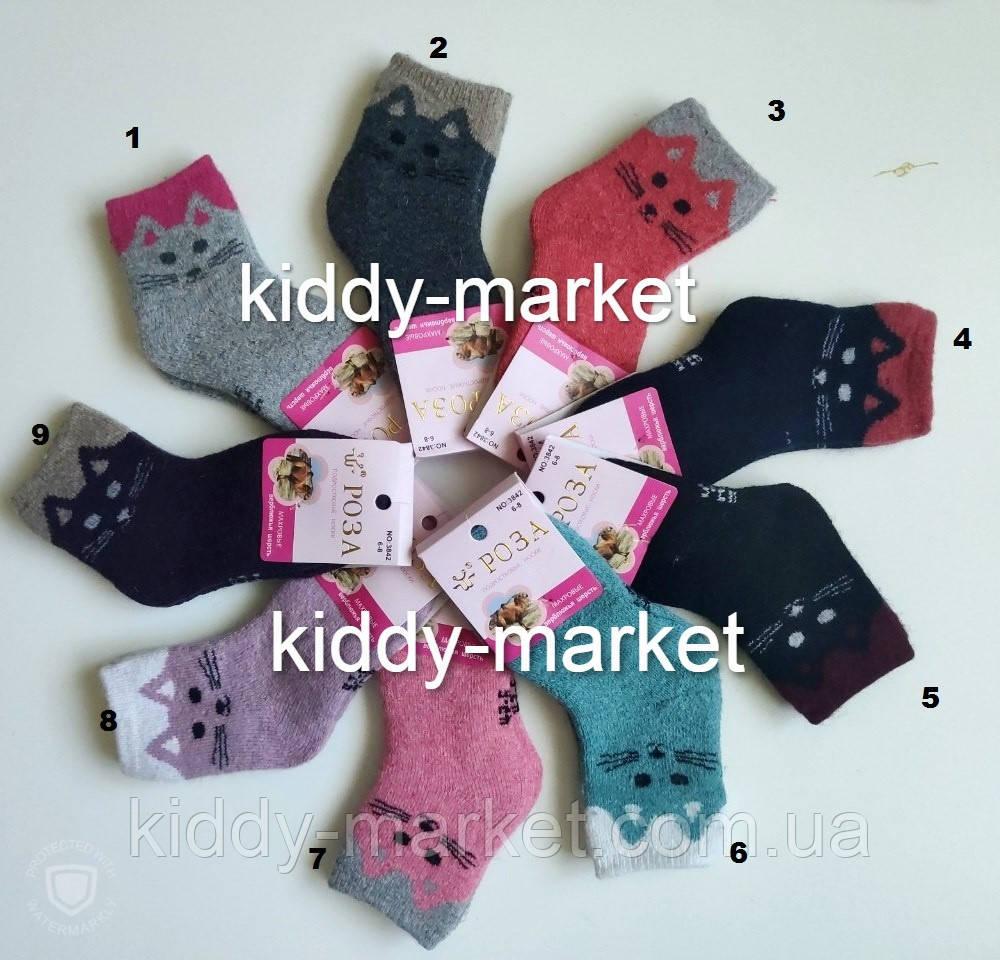 Носки шерстяные  детские внутри с махрой на ножку  16-18см