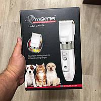 Беспроводная профессиональная машинка для стрижки собак котов и животных Pro Gemei GM-634