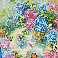 Схема для вышивки бисером на натуральном художественном холсте Летний чай