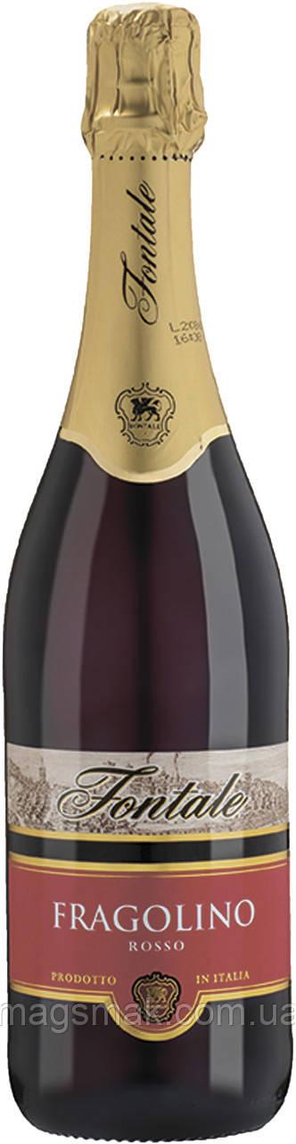 Fontale Фраголино Россо игристое красное сладкое 0.75 л 7.5%