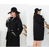 Пальто прямого кроя кашемировое №135-Черный, фото 3