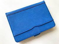 """Универсальный чехол книжка sCase Nebraska для планшета 7"""" - 8"""" Blue"""
