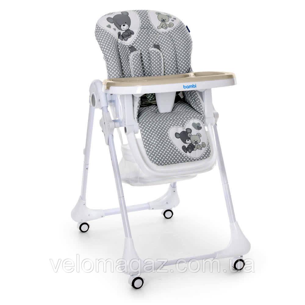 Дитячий стільчик-трансформер для годування M 3233 TEDDY GRAY